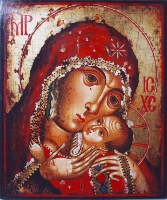 Holy Virgin with the  Infant  - 16th Century